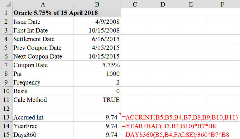 Calculate Accrued Interest On A Bond In Excel 3 Ways